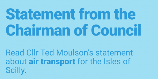Statement from the Chairman of Council: Cllr Ted Moulson