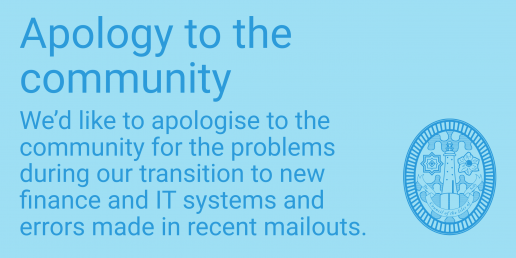 Apology to the community
