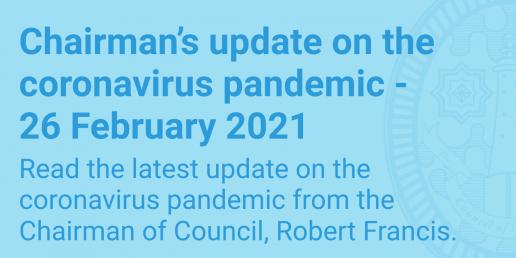 Chairman's update 26 February 2021