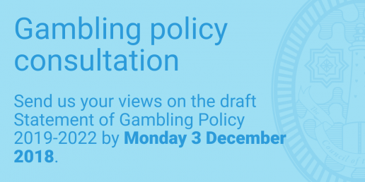 Gambling policy consultation