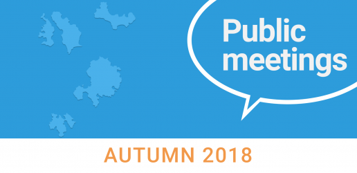Public meetings: autumn 2018