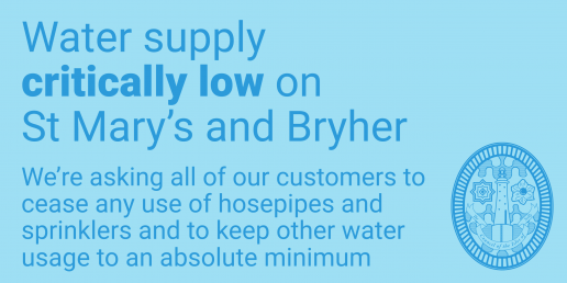 Water supply critically low - Scilly