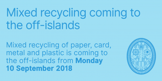 Mixed recycling coming to off-islands