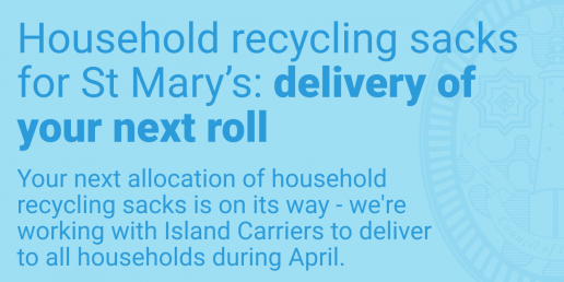 Household recycling sacks on the way