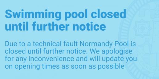 Swimming pool closed