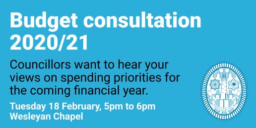 Budget consultation 2020/21