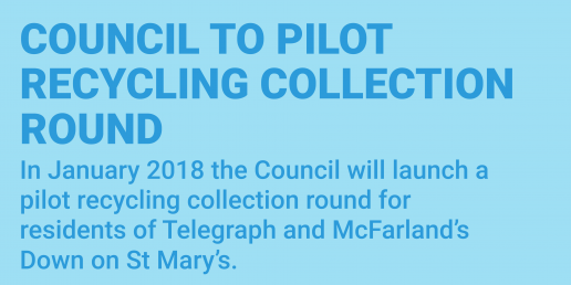 Pilot recycling collection round